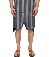 Vivienne Westwood - Printed Stripe Jersey Twist Seam Shorts