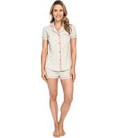 Cosabella - Bella Texture Short Sleeve Top and Boxer Pajama AMORS9621