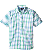 Oscar de la Renta Childrenswear - Check Cotton Short Sleeve Woven Shirt (Toddler/Little Kids/Big Kids)