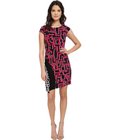 Laundry by Shelli Segal - Print Matte Jersey T-Body Dress with Seaming