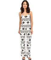 BB Dakota - Daphne Symbol Printed Heavy Rayon Bell Bottom Jumpsuit