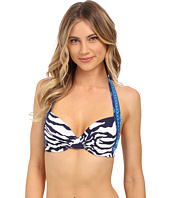Tommy Bahama - Zebra Full Coverage Underwire Halter Bra