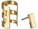 Rectangle Bar Single Earrings & Cuff Set
