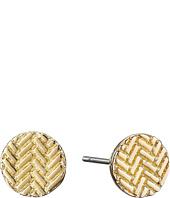 Cole Haan - Etched Basket Weave Stud Earrings