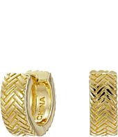 Cole Haan - Basket Weave Huggy Earrings