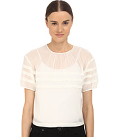 RED VALENTINO - Crop Blouse with Stripe Detail