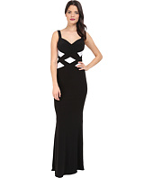 Faviana - Jersey Sweetheart Two-Tone Gown 7746