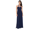 Chiffon Gown with Illusion Sweetheart Neckline/Rouched Bodice & Keyhole Back 7774