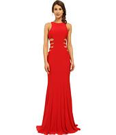 Faviana - Jersey Gown w/ Side Cut Outs 7820