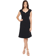 Zac Posen - Bonded Crepe Cap Sleeve Dress