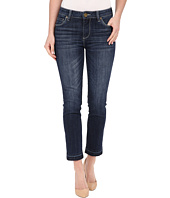 KUT from the Kloth - Reese Ankle Straight Leg Jeans in Rely w/ Dark Stone Base Wash