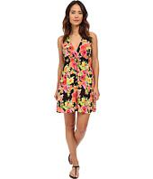 LAUREN Ralph Lauren - Brilliant Floral Surplice Halter Dress