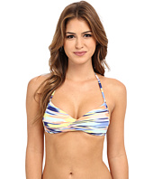 Roxy - Smooth Ikat Wrap Halter Bra