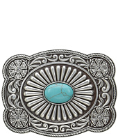 M&F Western - Scallop Edged Turquoise Rectangle Buckle