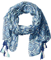 San Diego Hat Company - BSS1650 Lightweight Scarf with All Over Print and Tassels