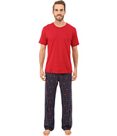Tommy Bahama - Printed Heather Plaid Pajama Set