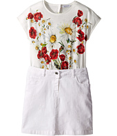 Dolce & Gabbana Kids - Fiori Combo Dress (Big Kids)