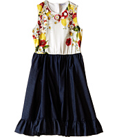 Dolce & Gabbana Kids - Fiori Denim Dress (Big Kids)