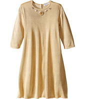Dolce & Gabbana Kids - Lurex Long Sleeve Dress (Toddler/Little Kids)