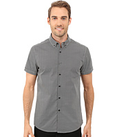 Kenneth Cole Sportswear - Short Sleeve Button Down Collar Dot Print