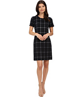 Christin Michaels - Textured Plaid Dress