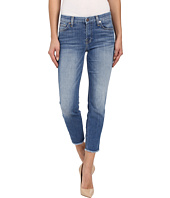 7 For All Mankind - Kimmie Crop w/ Raw Hem in Vivid Authentic Blue