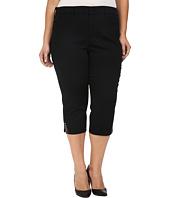 NYDJ Plus Size - Plus Size Ariel Crop Rhinestone in Black