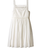 Chloe Kids - Cotton Crepe Couture Dress Embroidery Under Cover (Big Kids)