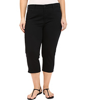 NYDJ Plus Size - Plus Size Ariel Crop w/ Slit in Black