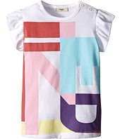 Fendi Kids - Ruffle Sleeve Top w/ Graphic Logo Design (Infant)
