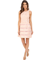 Aidan Mattox - Jackquard Cocktail Dress with Illusion Stripe Skirt Detail