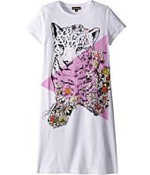 Roberto Cavalli Kids - Short Sleeve Leopard Graphic T-Shirt Dress (Big Kids)