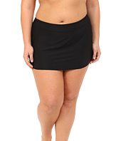 Athena - Plus Size Cabana Solids Banded Skirted Pants