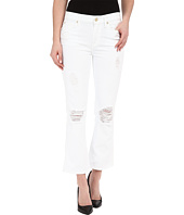 7 For All Mankind - Cropped Boot w/ Destroy in Clean White 3