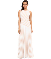 Donna Morgan - Gigi Boat Neck Striped Sequin Gown