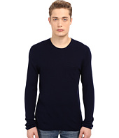 Vince - Wool Silk Long Sleeve Rib w/ Pocket