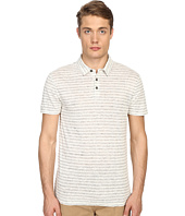 Vince - Linen Feeder Stripe Short Sleeve Polo