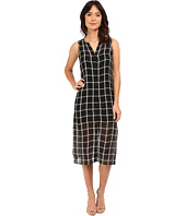 Michael Stars - Plaid Mesh Button Down Midi Dress
