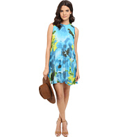 BB Dakota - Courtney Large Floral Printed Chiffon Pleated Dress