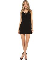 Brigitte Bailey - Solid Lace-Up Front Dress