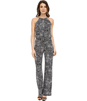 Laundry by Shelli Segal - Printed Matte Jersey Jumpsuit with Chain Neck