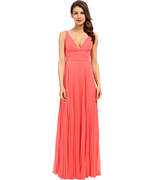 Laundry by Shelli Segal - Pleated Chiffon Open Back Gown