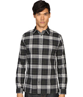 Vince - Cotton-Linen Square Hem Long Sleeve Melrose Shirt
