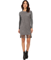 Brigitte Bailey - Fae Micro Suede Dress with Fringe
