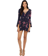 Brigitte Bailey - Gia Lace-Up Floral Print Dress