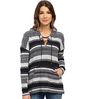 Three Dots - Becca Lace Front Long Sleeve Hoodie