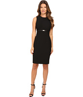 Versace Collection - Sheath Belted Sleeveless Dress