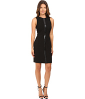 Versace Collection - Crew Neck Sleeveless Dress with Front Embellish