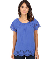 kensie - Crochet Embroidered Cotton Top KS7K4203