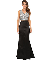 Adrianna Papell - V-Neck Top and Taffeta Gown